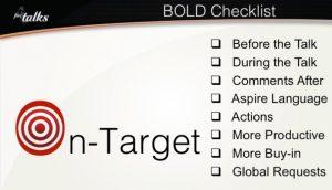 Bold speaker checklist